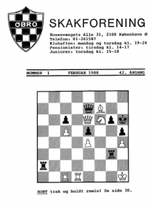 Klubblad fra februar 1988