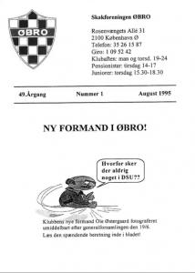 Klubblad fra august 1995