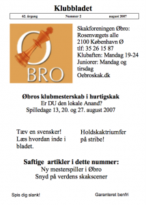 Klubblad fra august 2007